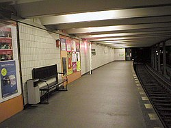U-Bahn Berlin Theodor-Heuss-Platz Platform.JPG