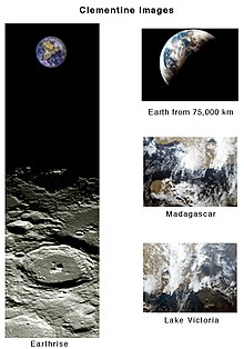 U.S. Geological Survey - Clementine Images of Earth and Moon.jpg