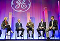 U.S. Marine Corps Sgt. Maj. Bryan B. Battaglia, center, the senior enlisted adviser to the chairman of the Joint Chiefs of Staff, attends the 2013 General Electric Veterans Network Summit at the Gaylord National 130523-A-HU462-019.jpg