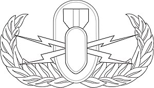 Air Force Specialty Code - USAF EOD Basic Occupational Badge