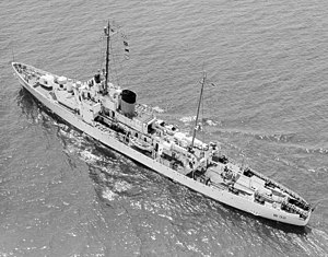 USCGC Campbell (WPG-32) in Ambrose Channel 1954.jpg