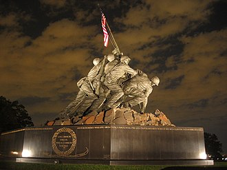 Joe Rosenthal - The U.S. Marine Corps War Memorial in Arlington, Virginia