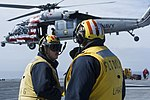 USS America conducts flight operations. (32536592780).jpg