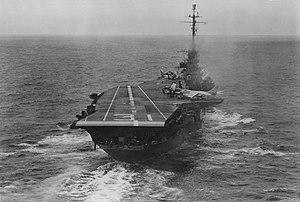 USS Bon Homme Richard (CVA-31) stern view 1957.jpg