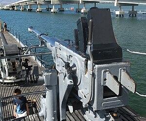 USS Bowfin (SS-287) - A 40 mm anti-aircraft gun