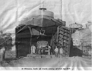USS LST-17 - Image: USS LST 17 Okinawa