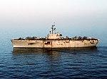 USS Okinawa (LPH-3) in the Persian Gulf in 1987.JPEG