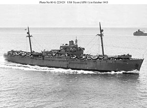 USS Tryon (APH-1) - USS Tryon (APH-1) at sea during World War II