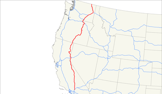 U.S. Route 395 - Image: US 395 map