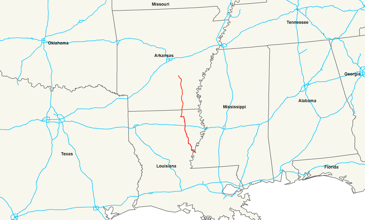 US Route  Wikipedia - Map of us 61