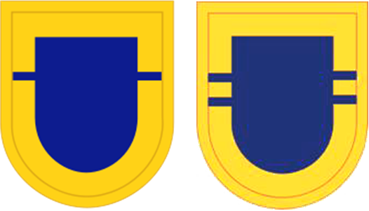 US Army 504th Infantry Regiment Flashes