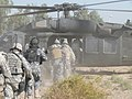 """US Army 52927 BAGHDAD-U.S. cavalry scouts from """"1st Squadron, 7th Cavalry Regiment, 1st Brigade Combat Team, 1st Cavalry Division, and Iraqi policemen from the 1st Battalion, 2nd Brigade, 1st Federal Police Divisio.jpg"""