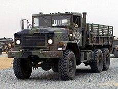 US Marine Corps 030224-M-XT622-034 USMC M923 (6X6) 5-ton cargo truck heads a convoy departing Camp Matilda, Kuwait crop.jpg