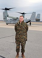 US Navy 030108-N-9999C-001 Gen. Michael W. Hagee, new Commandant of the Marine Corps, takes the first VIP flight in a V-22