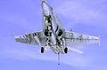US Navy 030321-N-2143T-003 An F-A-18A Hornet makes a final approach while making an arrested landing aboard the nuclear powered aircraft carrier USS Nimitz.jpg