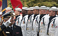 US Navy 040630-N-2383B-037 Fleet Admiral Roman Krzyzelewski, commander-in-chief, Polish Navy, conducts a troop inspection.jpg