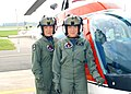 "US Navy 040811-N-0000X-003 dentical twins Lt. j.g. Deborah, right, and Christa Kieszek recently received their Navy pilot's ""Wings of Gold"" at Naval Air Station Whiting Field.jpg"