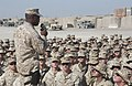 US Navy 040819-N-0962S-029 Sgt. Maj. of the Marine Corps John Estrada speaks to Sailors and Marines supporting Operation Iraqi Freedom (OIF) at Camp Taqaddum, Iraq.jpg