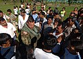 US Navy 051016-N-5526M-010 U.S. Army Sgt. Oscar Vega, assigned to the 1st 128th United States Air Ambulance Detachment, discusses medical issues with locals from a small village in Guatemala.jpg