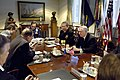 US Navy 070320-D-9880W-027 Secretary of Defense Robert M. Gates hosts a Pentagon meeting with European Union Secretary General and High Representative Javier Solana.jpg