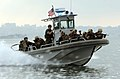 US Navy 070822-N-4154B-145 Members of the Mobile Security Squadron 3 visit, board, search and seizure team approach a vessel they will be boarding as part of exercise Seahawk 2007.jpg