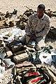 US Navy 081110-M-6159T-017 Hospital Corpsman Lucas Jetson prepares his field medical bag.jpg