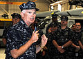 US Navy 090817-N-9116H-005 Rear Adm. Richard J. O'Hanlon, commander of Naval Air Force Atlantic, speaks to Sailors assigned to the Chargers of Helicopter Sea Combat Squadron (HSC) 26 at Naval Station Norfolk.jpg
