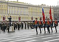 US Navy 100510-N-8288P-022 A Russian honor guard marches during the opening ceremony of the 65th anniversary of the Victory in Europe Day parade.jpg