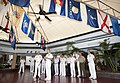US Navy 100628-O-8247S-028 Adm. Pat Walsh and Vice Adm. Rick Hunt addresses the press at the Lockwood Hall conference center.jpg