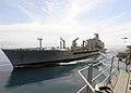 US Navy 101119-N-3729D-178 The Military Sealift Command fleet replenishment oiler USNS Pecos (T-AO 197) transits alongside the amphibious assault s.jpg