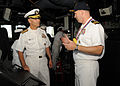 US Navy 110701-N-DI719-064 Vice Adm. Richard Hunt, commander of Naval Surface Force, U.S. Pacific Fleet, is given a tour of the guided-missile dest.jpg