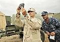 US Navy 110717-N-NX238-014 Hospital Corpsman 1st Class Joseph Schmitt and Hospital Corpsman 3rd Class James Anderson perform daily Halogen Testing.jpg