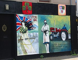 Shankill Road - UVF mural in the Shankill.