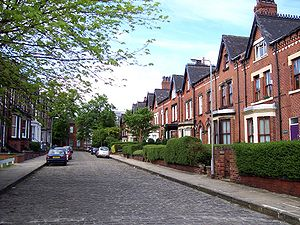 Typical Victorian Terraced Houses In England Built Brick With Slate Roofs Stone Details And Modest Decoration
