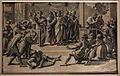 Ugo da carpi, morte di anania (da raffaello), xilografia a tre legni, 1518.JPG