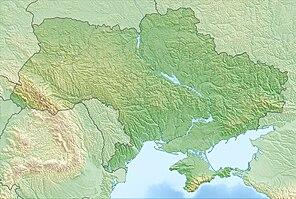 Лемурійське озеро. Карта розташування: Україна