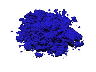 Ultramarine Deep blue purple color pigment which was originally made with ground lapis lazuli
