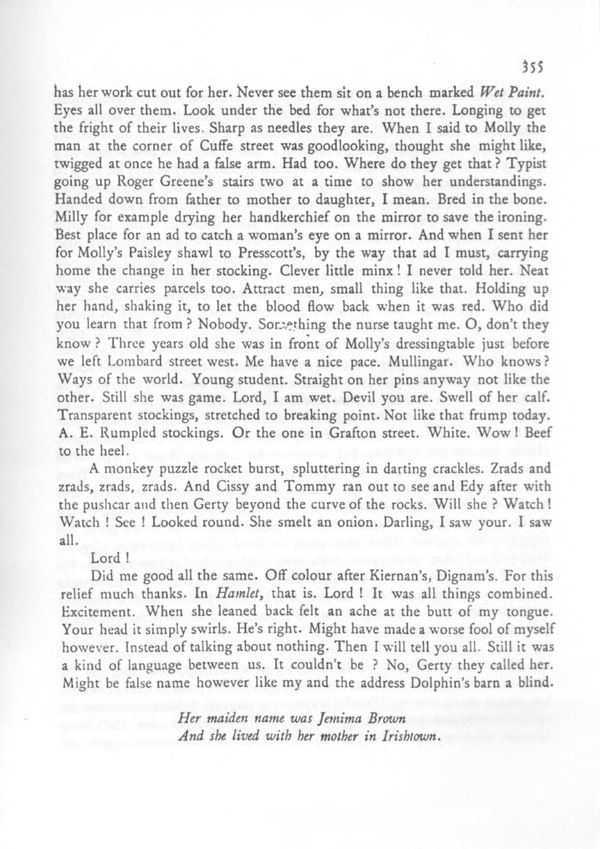 explication of ulysses Period of the joyce industry, the corpus was explicated as a masterpiece   innovative study of postcolonial joyce, the subaltern ulysses, enda duffy  reminds.