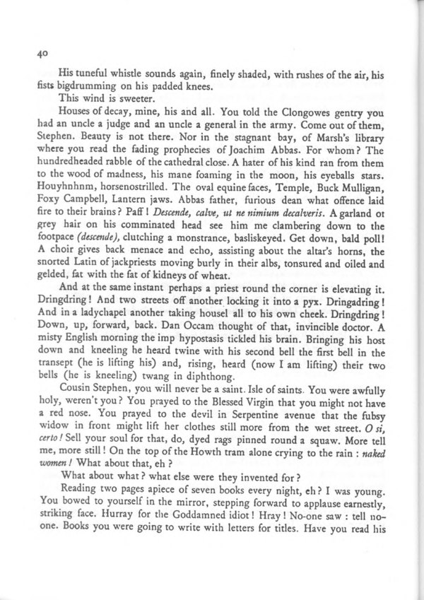 james joyce ulysses first paragraph