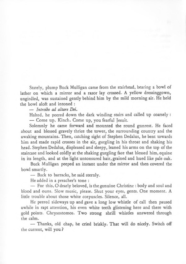 james joyce ulysses first paragraph