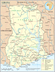 Map Of Ghana Showing Towns List of cities in Ghana   Wikipedia