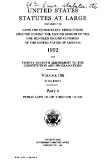 United States Statutes at Large Volume 106 Part 4.djvu