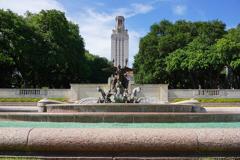 University of Texas at Austin Fountain and Tower