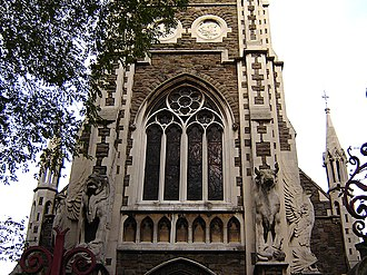 Upper Clapton - The Good Shepherd's extravagant main entrance. (October 2005)