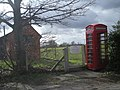 Uppington ATE and phone kiosk (a K6 I think) - geograph.org.uk - 738345.jpg