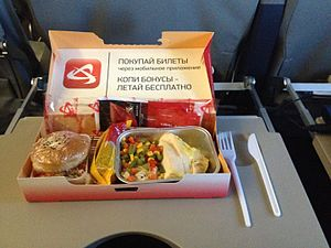 Ural Airlines - A meal aboard Ural Airlines