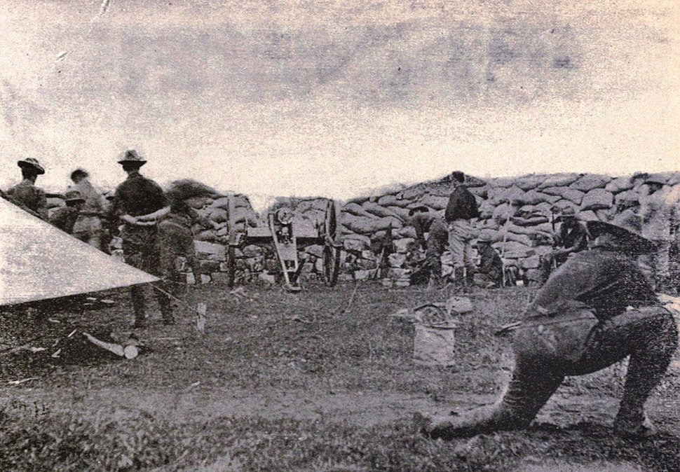 Utah Light Artillery in action in the Philippines, 1899