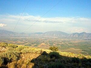 West Mountain (Utah County, Utah) - Southern Utah Valley, from West Mountain
