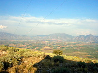 West Mountain (Utah County, Utah) - Southern Utah Valley, from West Mountain