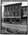 VIEW NORTH, FRONT, FROM WASHINGTON ST. - 15-17 South Washington (Commercial Building), Tiffin, Seneca County, OH HABS OHIO,74-TIF,1-2.tif
